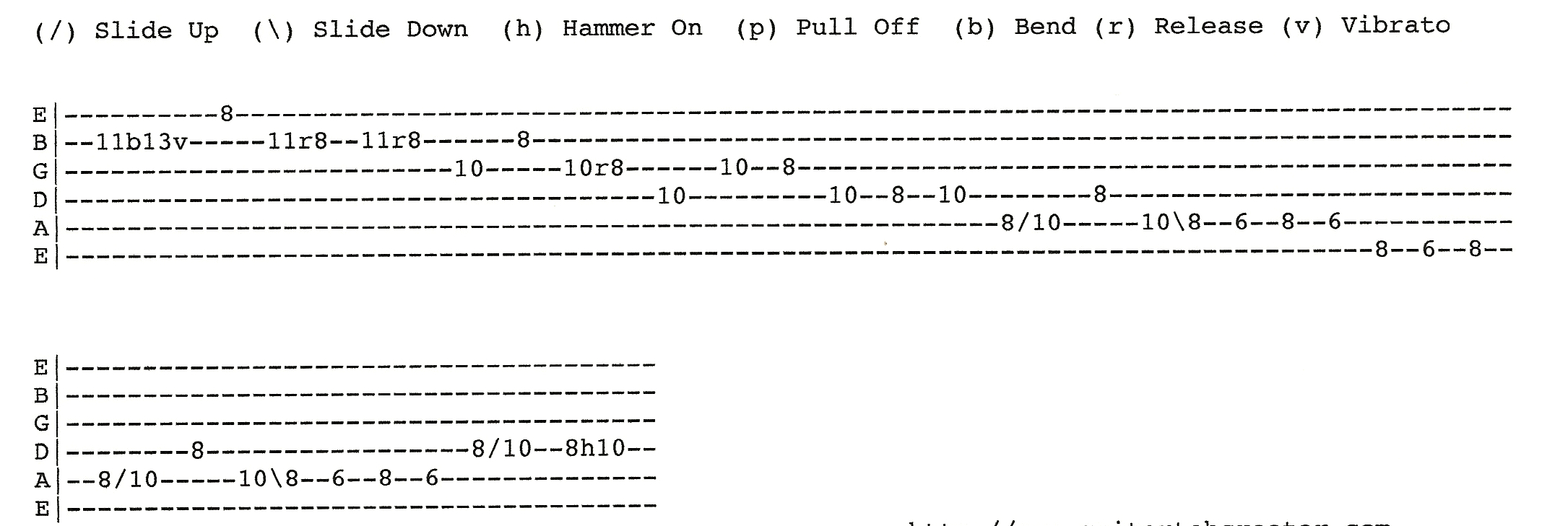 Zz top la grange style lick and tab rick mccargar 39 s - How to play la grange on acoustic guitar ...