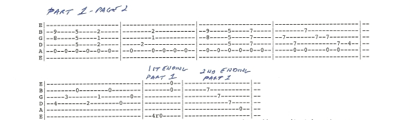 Duane Allman Little Martha Guitar Tab Part 1 page 2