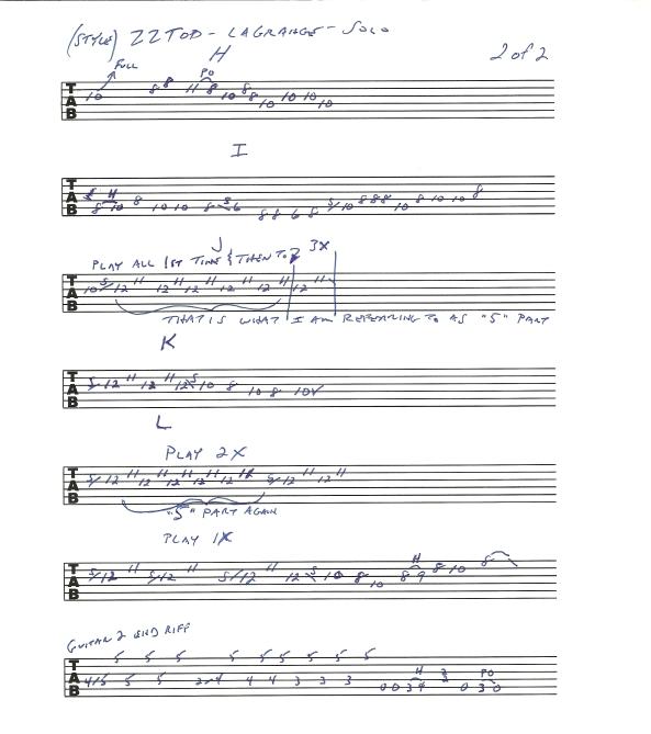 ZZ TOP La Grange u2013 solo u2013 guitar lesson with tab : Rick McCargaru0026#39;s Guitar Licks, Songs and Music ...