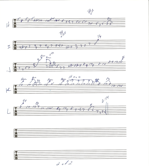 Allman Brothers Band One Way Out Guitar Solo tab page 2of2