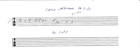 Eric Clapton Layla Unplugged guitar tab pg 3of3