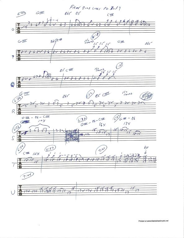 Lynyrd Skynyrd Free Bird guitar solo tab page 3of7