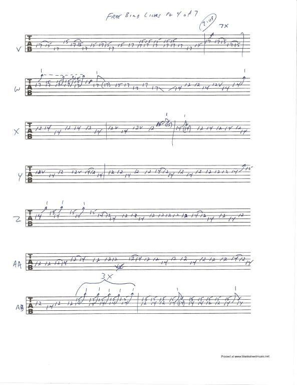 Lynyrd Skynyrd Free Bird guitar solo tab page 4of7