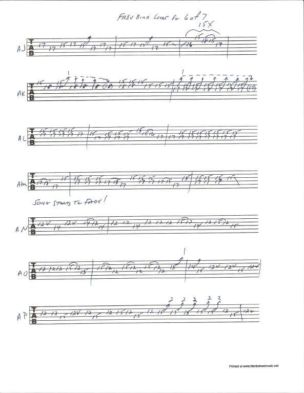 Lynyrd Skynyrd Free Bird guitar solo tab page 6of7