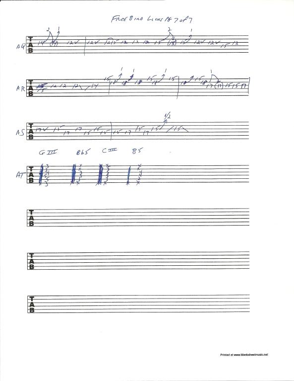 Lynyrd Skynyrd Free Bird guitar solo tab page 7of7