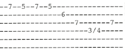 MTB Heard It In A Love Song Electric guitar tab Lick 4