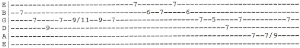 MTB Heard It In A Love Song Outro guitar tab solo 2