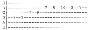 MTB Heard It In A Love Song Solo Guitar tab  A 1