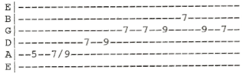 MTB Heard It In A Love Song Solo Guitar Tab B 1
