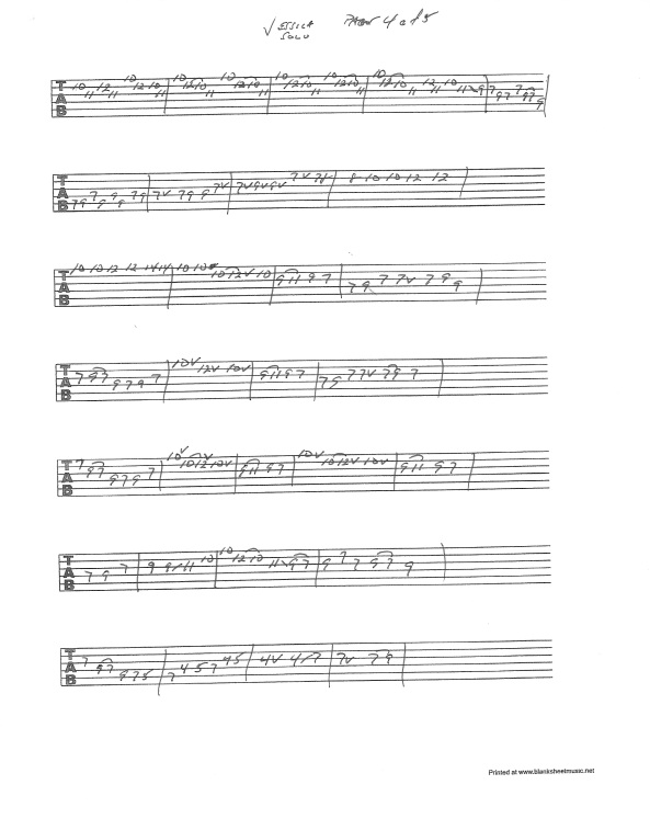 Allman Brothers - Jessica solo guitar tab pg 4of5