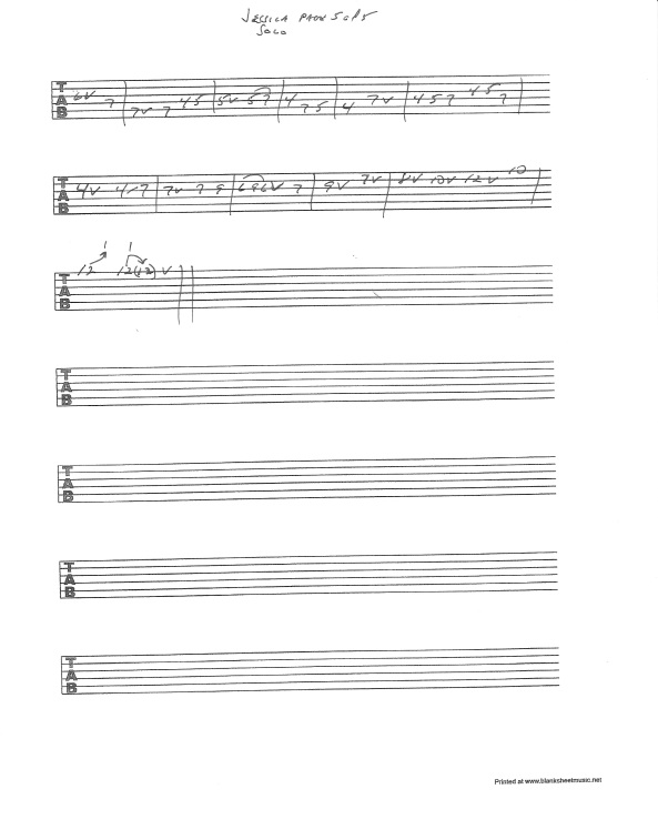 Allman Brothers - Jessica solo guitar tab pg 5of5