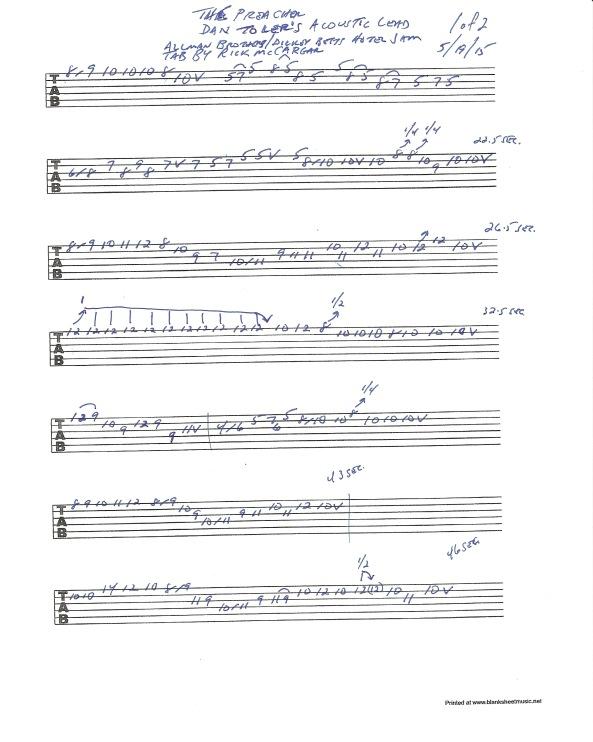 Dan Toler - The Preacher acoustic solo 1of2